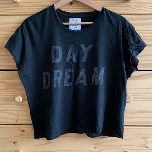 Zoe Karssen Tops - Zoe Karssen Black Day Dreamer Graphic Tee M